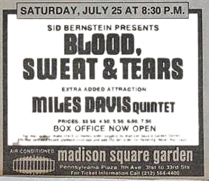 Miles-Davis-Blood-Sweat-Tears-MSG-Concert-Poster-Type-Ad